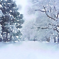Snowscapes and Fun with Waterlogue App
